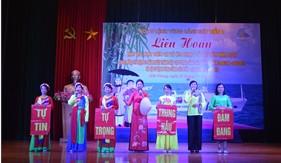 Phụ nữ BTL Vùng Cảnh sát biển 1 liên hoan hát ru, hát dân ca và âm nhạc cổ truyền