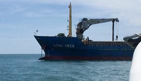 BTL Vùng Cảnh sát biển 2 phối hợp bắt giữ tàu   vận chuyển quặng titan trái phép