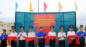BTL Vùng Cảnh sát biển 2 nhận bàn giao sân bóng đá cỏ nhân tạo