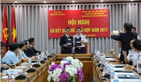 BTL Vùng Cảnh sát biển 2 sơ kết quy chế phối hợp năm 2017