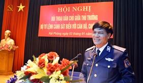 Tư lệnh Cảnh sát biển đối thoại dân chủ với cán bộ, chiến sĩ BTL Vùng Cảnh sát biển 1