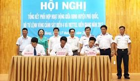 Hội nghị tổng kết phối hợp hoạt động giữa UBND huyện Phú Quốc, BTL Vùng Cảnh sát biển 4 và Viettel Kiên Giang năm 2017