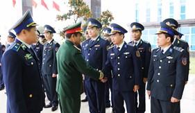 Thượng tướng Lê Chiêm thăm, chúc Tết BTL Cảnh sát biển