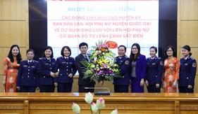 Giao lưu cán bộ, hội viên phụ nữ huyện Quốc Oai và phụ nữ cơ quan BTL Cảnh sát biển