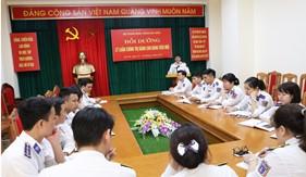 Bộ Tham mưu Cảnh sát biển bồi dưỡng lý luận chính trị cho đảng viên mới