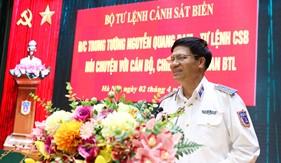 Trung tướng Nguyễn Quang Đạm gặp mặt, chia tay cán bộ, chiến sĩ cơ quan Bộ Tư lệnh Cảnh sát biển
