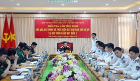 Quân ủy Trung ương kiểm tra Quy chế dân chủ cơ sở  tại BTL Vùng Cảnh sát biển 1