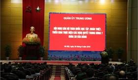 Hội nghị cán bộ toàn quốc học tập, quán triệt, triển khai thực hiện các nghị quyết Hội nghị Trung ương 7 khóa XII