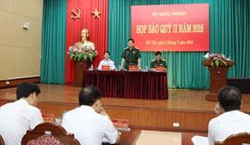 Bộ Quốc phòng họp báo Quý II năm 2018 giới thiệu thành tựu tiêu biểu của Lực lượng Cảnh sát biển