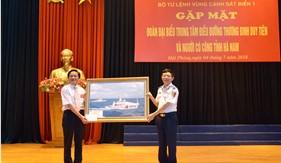 BTL Vùng Cảnh sát biển 1 gặp mặt Đoàn đại biểu Trung tâm điều dưỡng thương binh Duy Tiên và người có công tỉnh Hà Nam