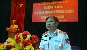 Tư lệnh Cảnh sát biển kiểm tra công tác 6 tháng đầu năm  tại BTL Vùng Cảnh sát biển 1