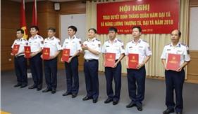 BTL Cảnh sát biển: Trao quyết định thăng quân hàm cấp đại tá và nâng lương thượng tá, đại tá năm 2018