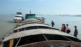BTL Vùng Cảnh sát biển 1 tạm giữ 500 tấn than vi phạm