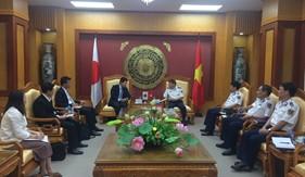 Tư lệnh Cảnh sát biển tiếp và làm việc với Đại sứ quán Nhật Bản