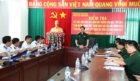 Kiểm tra việc thực hiện Phong trào Toàn dân đoàn kết xây dựng đời sống văn hóa tại BTL Vùng Cảnh sát biển 3