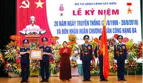 Kỷ niệm 20 năm Ngày truyền thống: Lực lượng Cảnh sát biển Việt Nam vinh dự đón nhận Huân chương Quân công hạng Ba