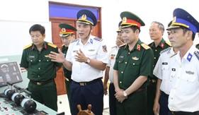 Đoàn công tác Tổng cục Kỹ thuật Bộ Quốc Phòng làm việc tại BTL Vùng Cảnh sát biển 4