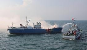 BTL Vùng Cảnh sát biển 1 diễn tập chống cướp biển, cướp có vũ trang và tìm kiếm cứu nạn trên biển