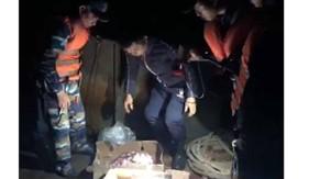 Bộ Tư lệnh Vùng Cảnh sát biển 1 tạm giữ gần 500 tấn nội tạng động vật đông lạnh trên 7 tàu Trung Quốc