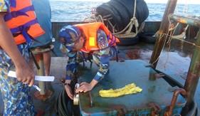 Bộ Tư lệnh Vùng Cảnh sát biển 4 tạm giữ tàu vận chuyển dầu DO trái phép trên vùng biển Tây Nam