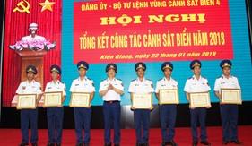 Các đơn vị trong Lực lượng tổng kết công tác Cảnh sát biển năm 2018