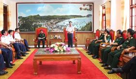 Hội đồng xét duyệt chức danh Giáo sư ngành Khoa học quân sự làm việc tại Bộ Tư lệnh Vùng Cảnh sát biển 4