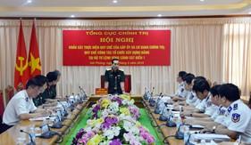 Tổng Cục Chính trị làm việc tại BTL Vùng Cảnh sát biển 1