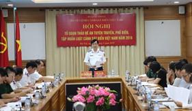 Phiên họp thứ nhất Tổ soạn thảo Đề án tuyên truyền, phổ biến, tập huấn Luật Cảnh sát biển Việt Nam