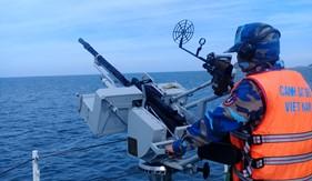 Bộ Tư lệnh Vùng Cảnh sát biển 1 tổ chức thành công huấn luyện chiến thuật vòng tổng hợp và bắn súng, pháo trên biển năm 2019