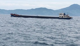 Bộ Tư lệnh Vùng Cảnh sát biển 2 tạm giữ tàu vận chuyển hơn 2.500 tấn than có dấu hiệu vi phạm