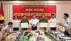 Hội nghị sơ kết xây dựng nền Quốc phòng toàn dân giai đoạn 2009 - 2019 tai Bộ Tư lệnh Vùng Cảnh sát biển 1