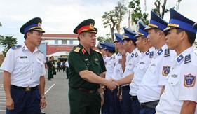 Thượng tướng Nguyễn Trọng Nghĩa kiểm tra kết quả xây dựng môi trường văn hóa tại Bộ Tư lệnh Vùng Cảnh sát biển 4