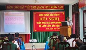 Hải đội 202 phối hợp tuyên truyền Luật Cảnh sát biển Việt Nam tại huyện đảo Cồn Cỏ