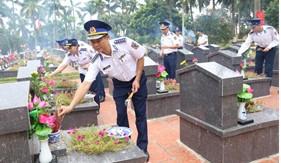 Lực lượng Cảnh sát biển tổ chức nhiều hoạt động tri ân Anh hùng liệt sĩ, người có công, gia đình chính sách