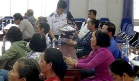Đoàn Trinh sát số 2 phối hợp tuyên truyền Luật Cảnh sát biển Việt Nam tại Tp. Mỹ Tho
