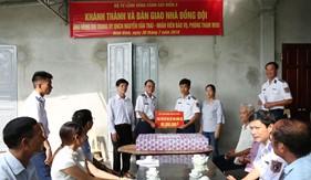 Bộ Tư lệnh Vùng Cảnh sát biển 2 bàn giao nhà đồng đội cho quân nhân có hoàn cảnh khó khăn