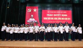 Bộ Tham mưu Cảnh sát biển trao quyết định nâng lương và thăng quân hàm quân nhân chuyên nghiệp năm 2019