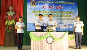 Đoàn Trinh sát số 1 ký kết quy chế phối hợp hoạt động với xã Nghĩa Thắng, Nghĩa Hưng, Nam Định