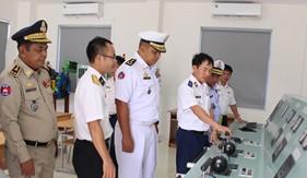 Đoàn công tác Hải Quân Hoàng gia Campuchia thăm và làm việc tại Bộ Tư lệnh Vùng Cảnh sát biển 4