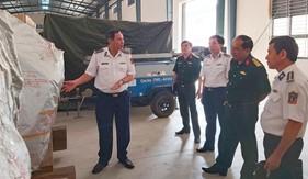 Cục Kế hoạch và Đầu tư/Bộ Quốc phòng làm việc với Bộ Tư lệnh Cảnh sát biển về công tác cất giữ, quản lý hàng dự trữ quốc gia