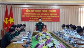 Thượng tướng Lê Chiêm kiểm tra kết quả thực hiện công tác Cảnh sát biển tại BTL Vùng Cảnh sát biển 1
