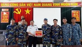 Phó Tư lệnh - Tham mưu trưởng Cảnh sát biển động viên các đội tuyển tham dự Hội thao Thể dục thể thao Quốc phòng năm 2019