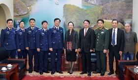 Chính ủy Cảnh sát biển chúc Tết Đảng bộ, chính quyền và nhân dân Tp. Hải Phòng