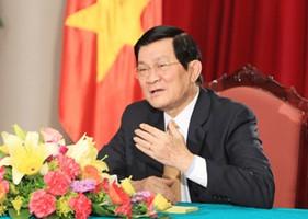 Chủ tịch nước Trương Tấn Sang trả lời phỏng vấn báo The Jakarta Post và Hãng thông tấn Antara News