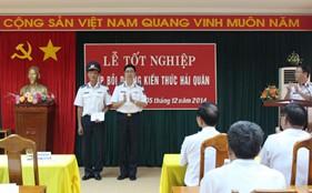 Bế giảng lớp bồi dưỡng kiến thức Hải quân khoá 1 cho cán bộ nghiệp vụ Cảnh sát biển tại Học viện Hải quân