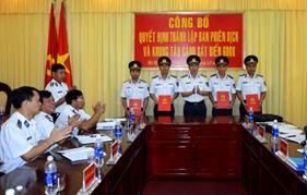 BTL Vùng Cảnh sát biển 3 tổ chức công bố quyết định đơn vị mới và bổ nhiệm cán bộ