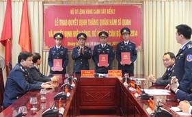 BTL Vùng Cảnh sát biển 2 tổ chức Lễ trao quyết định thăng quân hàm sỹ quan, điều động, bổ nhiệm cán bộ năm 2014