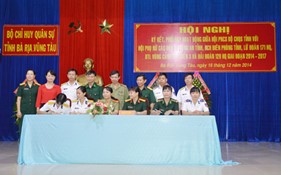 Hội Phụ nữ cơ sở BTL Vùng Cảnh sát biển 3 ký kết quy chế phối hợp hoạt động với Hội Phụ nữ khối Lực lượng vũ trang tỉnh Bà Rịa -Vũng Tàu