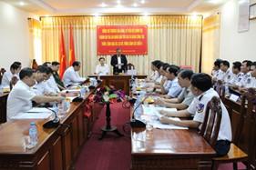 Chánh án Tòa án Nhân dân tối cao thăm và làm việc với BTL Vùng Cảnh sát biển 4