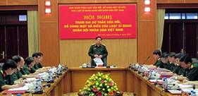 Sửa đổi, bổ sung Luật Sĩ quan bảo đảm tính đồng bộ, đáp ứng yêu cầu xây dựng quân đội